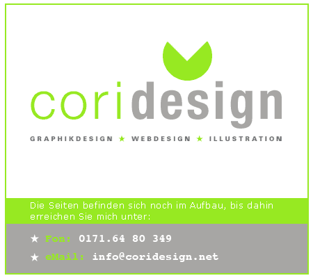 coridesign - Büro für Graphik- und Webdesign und Illustration